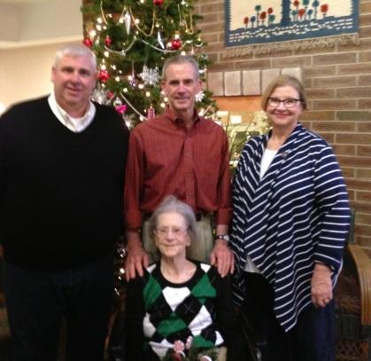 Wentz 2015-12 Peter, Kurt, Karen, Bettie - Judson Manor, OH