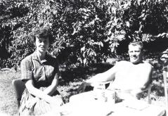 Wentz, WB 1950s Relaxing in sun