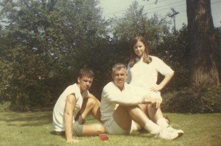 Wentz, WB 1970s with Kurt and Karen