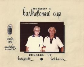 Wentz, WB 1980 Tennis Competitor