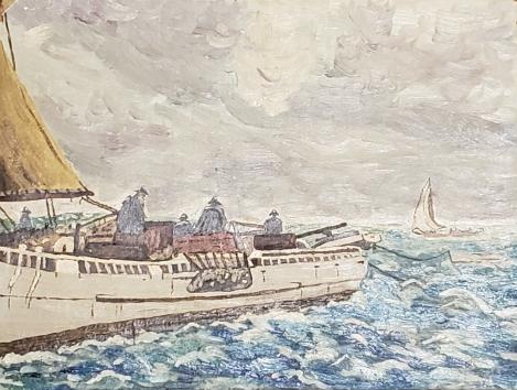 Wentz, WB Ship On Sea 1951-12