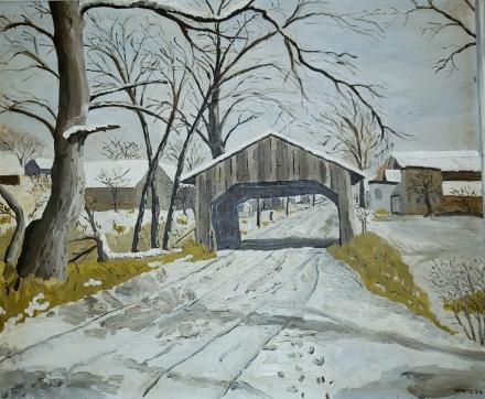 Wentz, WB Winter Covered Bridge 1952